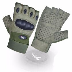 Fingerless Tactical Assault Contact Gloves Hard Knuckle Military Army GBP 12.99