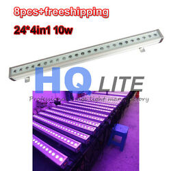 8pcslot Outdoor 24x10W RGBW 4in1 LED wall washer light outdoor garden decorate