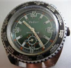 VADUR water proof  S.STEEL back case watch with world time bezel