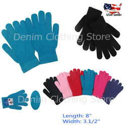 WHOLESALE LOT MEN WOMEN SOLID MAGIC WARM WINTER SNOW KNIT KNITTED GLOVES Xmas