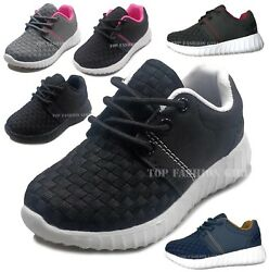 New Baby Boys Girls Toddler Mesh Sneaker Sporty Lace Up Tennis Shoe Size 4 to 9 $16.95
