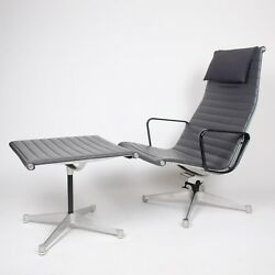 PATENT PENDING 1958 Vintage Eames Herman Miller Aluminum Lounge and Ottoman