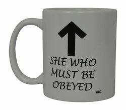 4X Best Funny Coffee Mug Wife She Who Must Be Obeyed Novelty Cup Wives Gift Idea