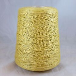 Cariaggi 6832 Cashmere Silk Yarn Cone Lot Fingering wt Yellow Knit Weave