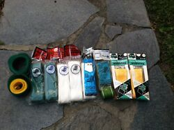HUGE LOT VINTAGE ALUMINUM CHAISE LOUNGE LAWN CHAIR WEBBING STRAPPING MANY-COLOR
