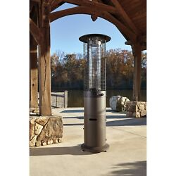 Outdoor Electric Patio Heater Cool Touch Steel Grid Portable Radiator Tower