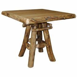 Rustic Aspen Log Pub Table - 2 Sizes - Amish Made in the USA