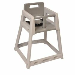 Central Specialties Unassembled Gray Plastic High Chair
