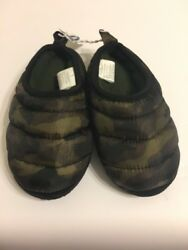 Old Navy Boys Slipper Shoes Size Medium 12 13 Camo $13.98