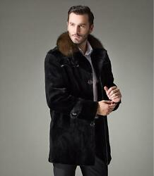 new Mens Mink Fur Jacket Mink  The whole skin cashmere jacket Overcoat vest coat