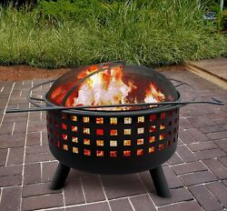 Landmann Halo Steel Fire Pit Easy Assembly Warm Up With a Drink and Story!