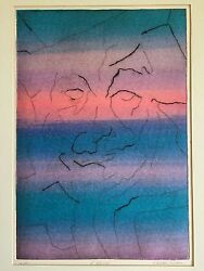 Large Etching FRANCES BUTLER LUBBEN Signed Artist Proof  'L'Allegro' Cheerful