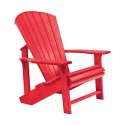 CR Plastic Products Generations Adirondack Chair C01-01 Red