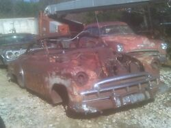 1949 CHEVROLET CONVERTIBLE DELUXE BEL AIR FRAME TRIM TAG TUB TOP BOWS RACK