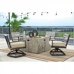 Outdoor Table Fire Pit Propane Gas Side Pool Decoration Backyard Yard Patio New