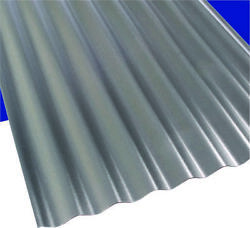 Suntop 108975 Corrugated Roofing Panel 26 in W x 12 ft L Gray Polycarbonate