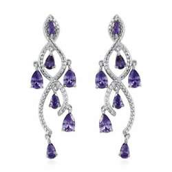 CHANDELIER PURPLE ZIRCONIA EARRINGS #chandelierearrings #purplezirconiaearrings $6.99