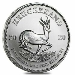 2020 South African Krugerrand 1 oz Silver Coin BU .999 Fine Silver - IN STOCK!! $37.60