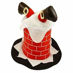 Novelty Funny Christmas Hat Stuck In Chimney Fancy Dress Xmas Party Costume $10.99