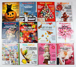 REAL SIMPLE MAGAZINE LOT OF 12 ISSUES ORGANIZING HOME GARDEN FINANCE LIFE