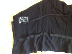 CHANEL COUTURE RUNWAY RUCHED BLACK SILK CHIFFON HOLIDAY PARTY BUSTIER TOP 36 $3k