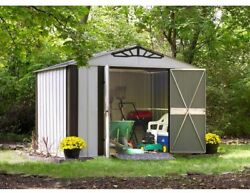 Arrow Designer Series Steel Storage Shed Building Kit 10 x 8 ft Metal Buildings