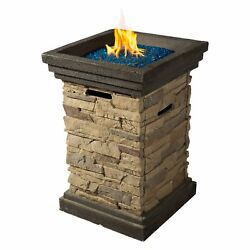 Column Gas Burning Fireplace 20