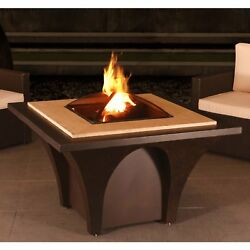 Table Fire Pit Wood Burning Steel Outdoor Fireplace Lid Patio Poolside Heater