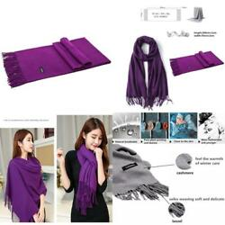 Kuayang Pashmina Scarf Cashmere Scarves for Women Mens Winter Shawls and Wraps (