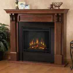 Mahogany Electric Fireplace Brown 48