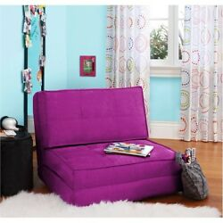 Sofa Flip Chair Bed Loveseat Lounge Folding Sleeper Berry