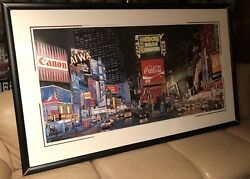 Ken Keeley Times Square The Way It Was Midori Signed Ltd Ed Serigraph Framed