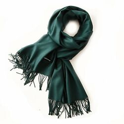Women scarf solid cashmere feel scarves shawls and wraps soft and long size