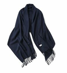 Wool Scarf Shawl Oversize Blanket Cashmere Feel Scarves And Wraps For Men And