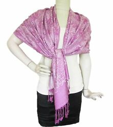 Elephant Print Scarf 100% Cashmere Shawls and Wraps for Women Soft Wool Large