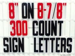 """Changeable Outdoor Sign Letters 8"""" Portable Flex Letters 300 Count Helvetica"""