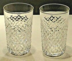 VINTAGE WATERFORD ALANA 12 OUNCE TUMBLER GLASSES SET OF 2 $99.99