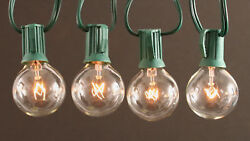 4 x 100 Foot G50 Outdoor Patio Party Globe String Lights-125 Clear Bulb Set