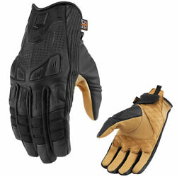 New Icon 1000 Axys Leather Textile Performance Motorcycle Gloves - Pick Size $85.00