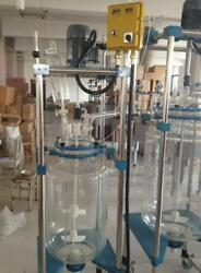 10L Jacketed Glass Chemical Reactor Vessel Explosion Proof Customizable bi