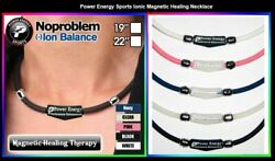 NoProblem Negative Ion Energy Health Healing Magnetic Power Balance Necklace $4.99