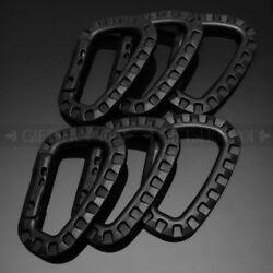 6pcs Outdoor Carabiner D-Ring Clip Hook Snap Spring Lock Key Chain Buckle Tools $8.99