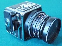 Hasselblad 500SWC Camera in factory leather case with all accessories filters.
