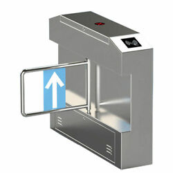 Access Control Semi-Auto Half Height Swing Gate Door Turnstile 304# Stainless