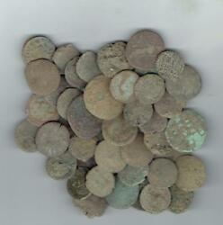 LARGE SIZE Dirty Ancient Roman Coins 18-24 mm found in Jerusalem