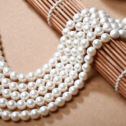 Genuine 6810mm Natural White South Sea Shell Pearl Round Loose Beads 15''