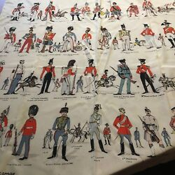 Vintage Jacqmar Silk Scarf All The Queen's Men Pattern