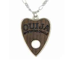 Wood Ouija Planchette Necklace - goth occult deathrock pagan wicca witchcraft