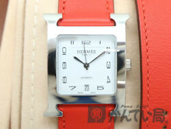 HERMES HH2.510 H bracelet SS leather accessories Wristwatch from japan (21206
