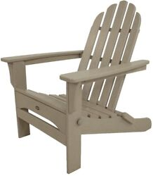 Plastic Adirondack Chair Folding Lounge Armchair Outdoor Furniture UV Protected